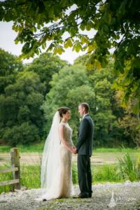 Bride and groom outdoor shoot