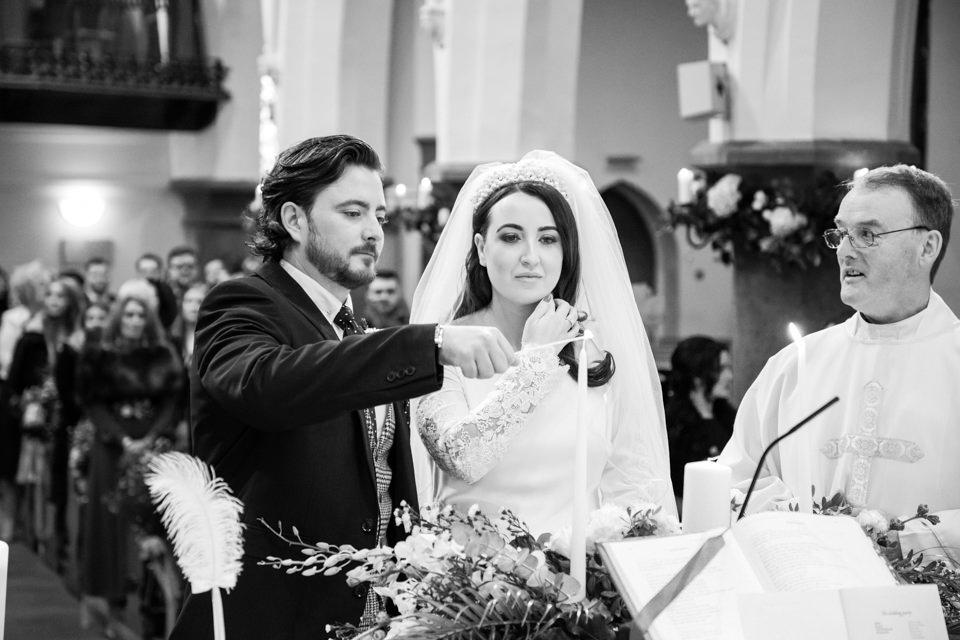 Bride and Groom at Ballinrobe church