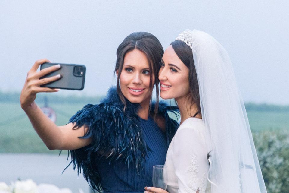 Bride and Bridesmaid at the wedding